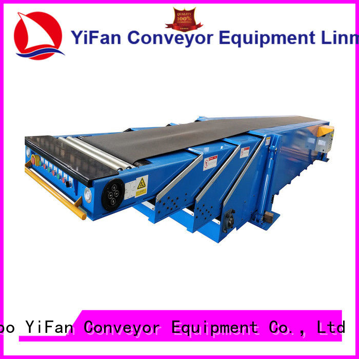 YiFan unloading telescopic conveyor belt widely use for dock