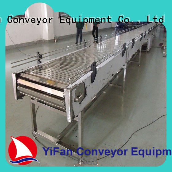 YiFan aluminum top chain conveyor with favorable price for food industry