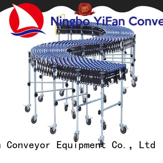 YiFan steel powered skate wheel conveyor top brand for dock