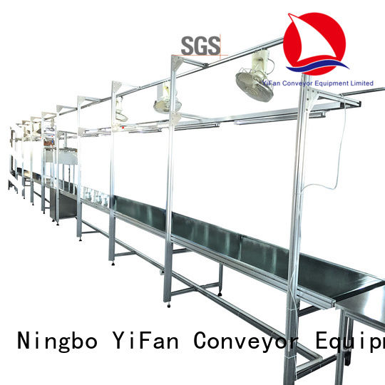YiFan pvk roller belt conveyor manufacturers with bottom price for food industry